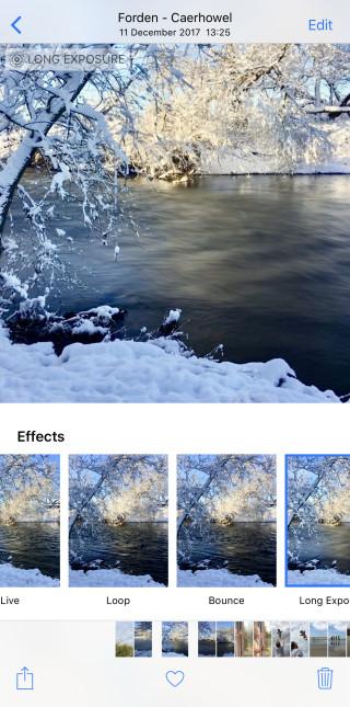 effet pour la photo prise avec l'iphone x