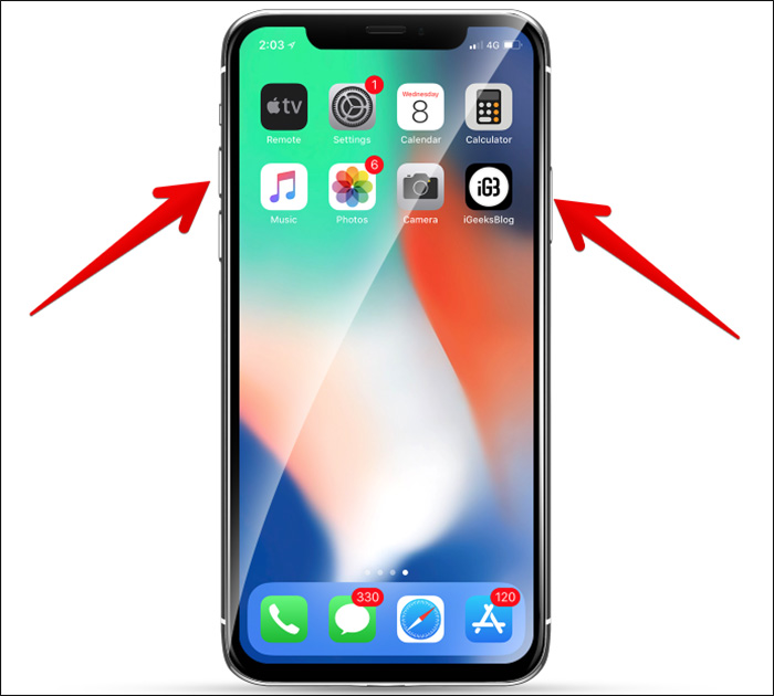 etiendre son iphone x xs max xr