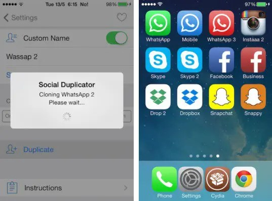AppDuplicator Tweak