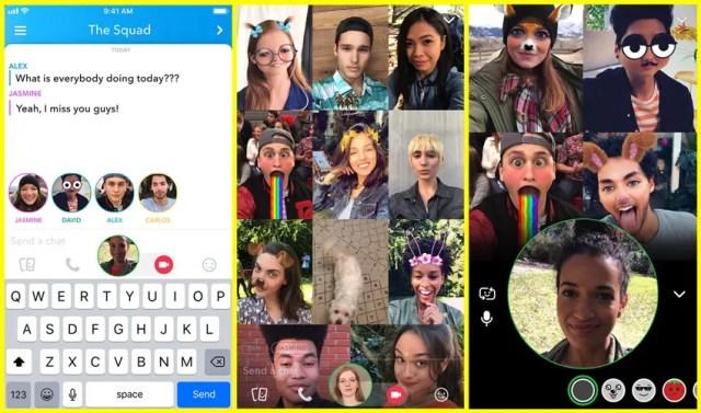 Snapchat apporte le chat vidéo