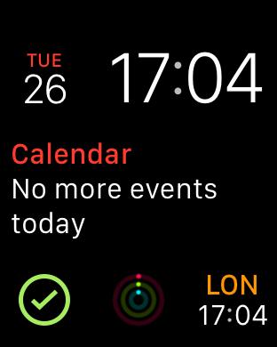Apple Watch DataMan complication