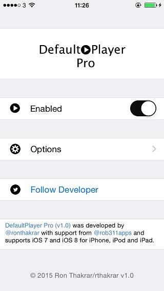 DefaultPlayer Pro tweak