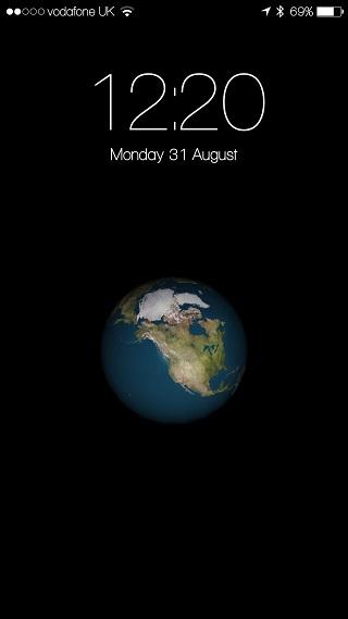 Earth Lockscreen tweak