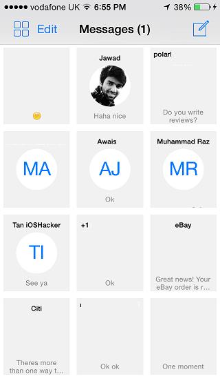 Grid Messages tweak