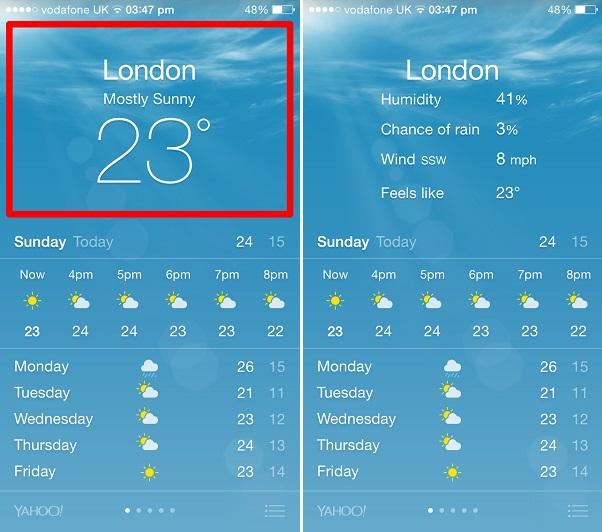 Weather app tip