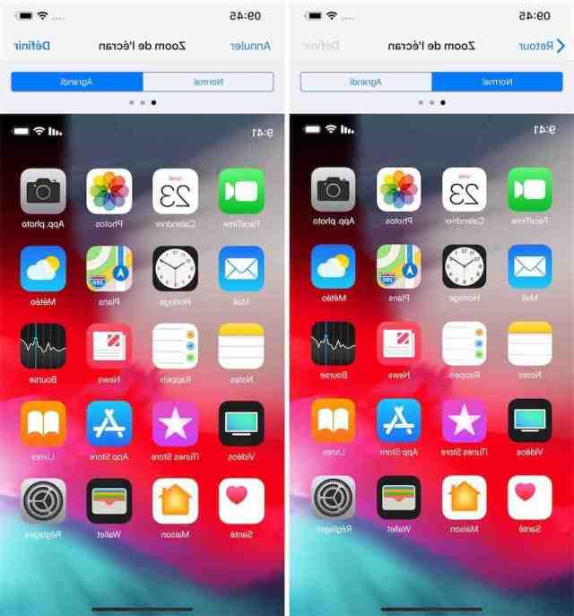 Comment enlever le zoom sur snap iPhone XR ?