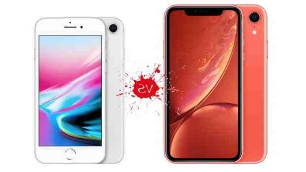 Comparaison de l'Iphone 8 plus et xr