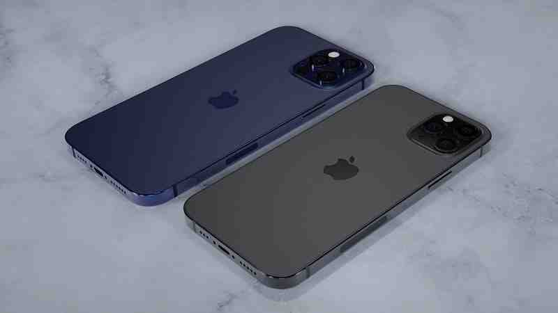 Couleurs de l'Iphone 12 pro max