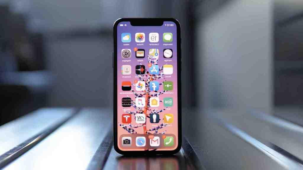 Écran d'accueil de l'Iphone 11 pro max