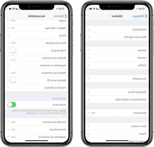 Pourquoi ecran iPhone se baisse ?