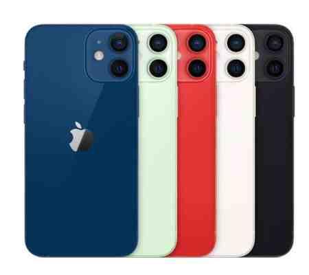 Quelle couleur pour iPhone 12 mini ?