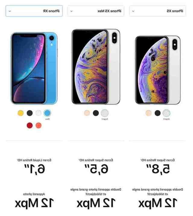 Quelle est le meilleur iPhone entre XS et XR ?
