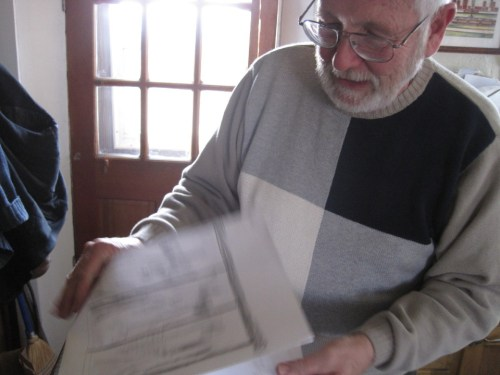 bill showing his drawings