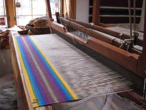 piece on the loom