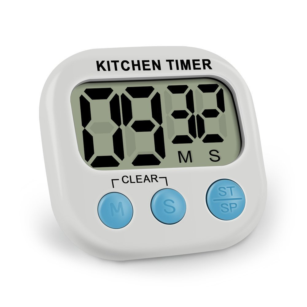 kitchen timer remodels ieka digital minute second count up countdown loud alarm with large lcd display and premium magnetic backing white high tech