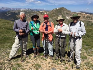 Two of these senior citizens hiking at 12,500 feet sleep on oxygen. They are residents living above 9,000 feet.
