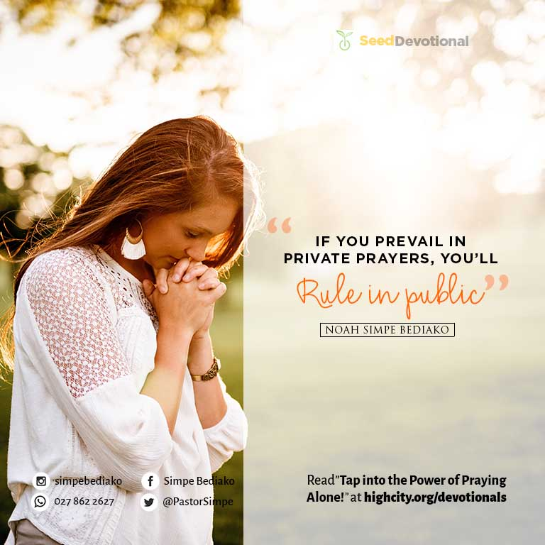 Tap Into The Power Of Praying Alone