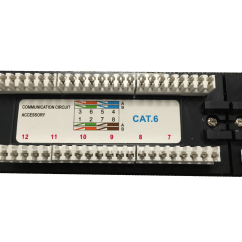 Cat6 Faceplate Wiring Diagram Sample Sequence Example Quality Patch Panel 24 Port 110 Style 1ru Hcc