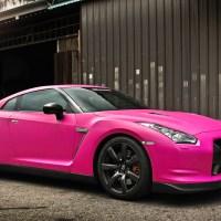 Nissan GTR In Matte Pink