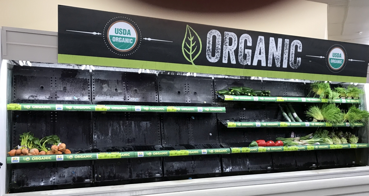 Safeway sold out of organic veggies