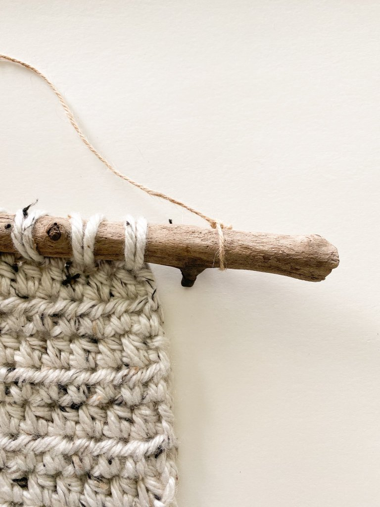 twine on pumpkin spice wall hanging