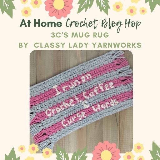 classy lady yarnworks mug rug crochet pattern