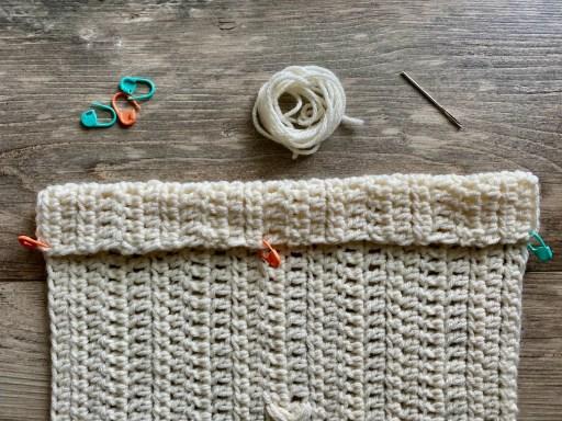 crochet wall hanging sew dowel pocket