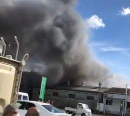 静岡県三島市谷田付近 火災 火事