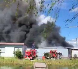 岡山市東区金岡西町 火事 火災