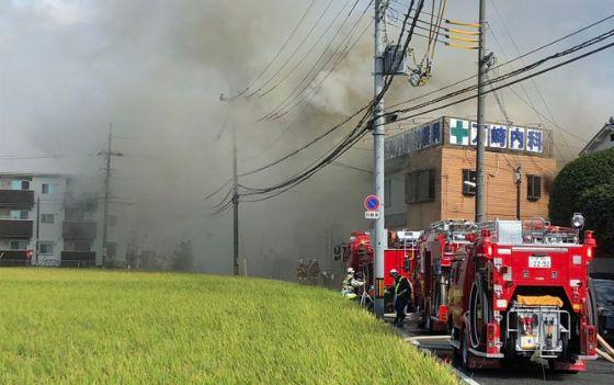 堺市東区日置荘原寺町 火事 火災