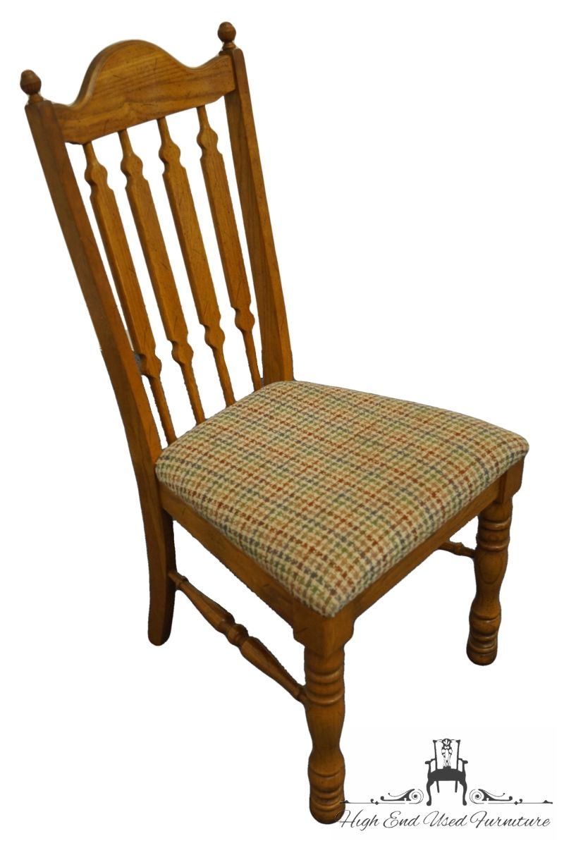 broyhill lenoir chair co oak country french dining side chair 5720 80 high end used furniture