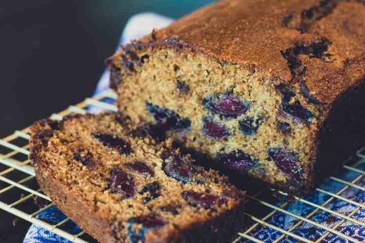 image of dark chocolate cherry rye loaf
