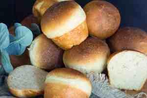 image of crispy bottomed sourdough buns