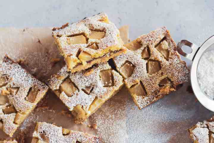 image of brown butter pear bars recipe