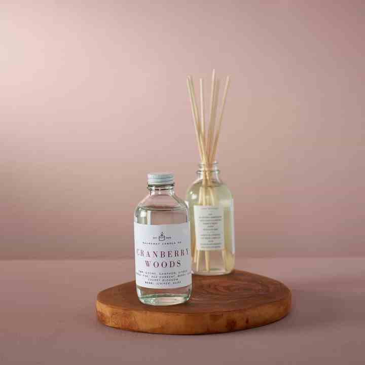 image of cranberry woods diffuser from rockaway candle co for gifts for the soul winter 2020