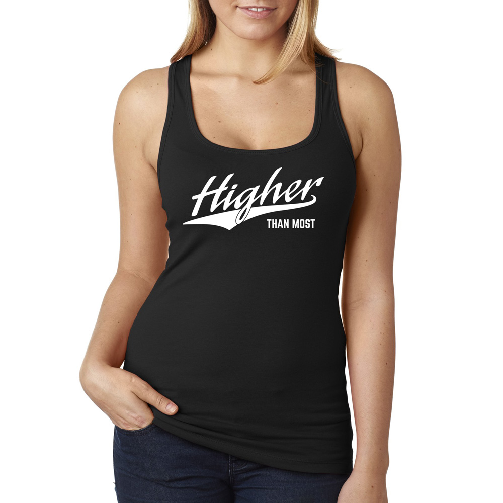 62d54c976b0d53 Higher Than Most Tank Top Black - Higher Apparel