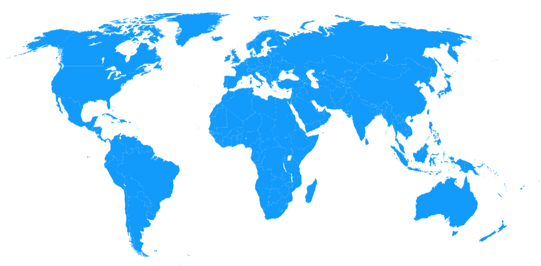 Blue Prezi World Map