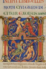 Master of the Leaping Figures, Initial H, Winchester Bible. 1130+ Winchester, Winchester Cathedral Priory