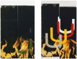 Wade Guyton, Untitled - Fire, 2006, Collection of Mark Grotjahn and Jennifer Guidi.