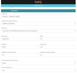 Highfit GTI - Gerador de Treinamento Intermitente - TELA