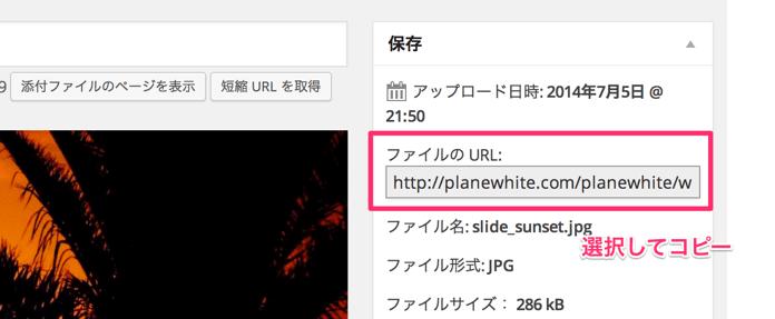 メディアを編集 Plane White WordPress 4