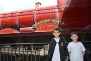 Riding the Hogwarts Express. Three times wasn't enough.