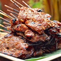 Thai Grilled Pork on a Skewer with Sticky Rice, Khao Niaow Moo Ping