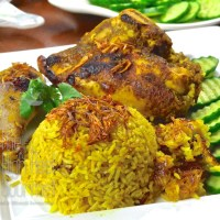 Thai Chicken Biryani, Halal Chicken and Curry Rice, Khao Mok Gai
