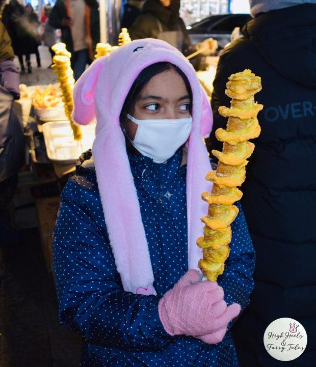 Twist potato - Myeongdong