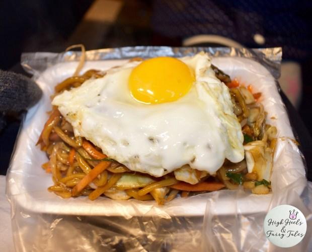 Yaki noodles - Myeongdong