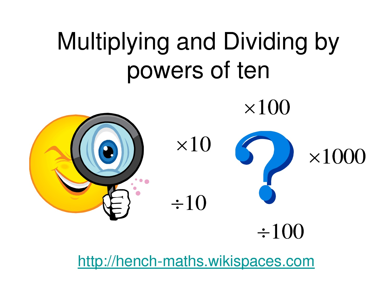 Multiplying And Dividing Decimals By 10 And 100 Word