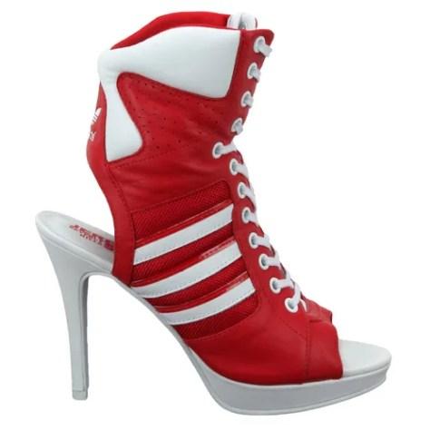 Adidas high heel sneakers