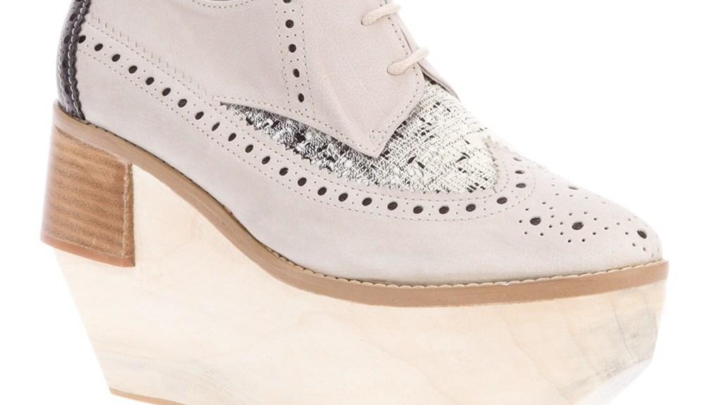 wedge heeled brogues