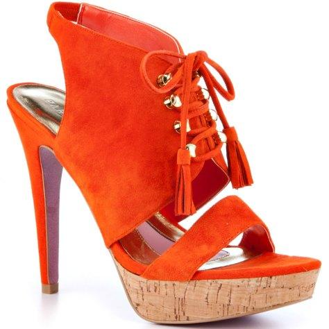orange suede heels from Paris Hilton